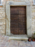 Tuscany wood door Royalty Free Stock Photography