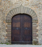 Tuscany wood door Stock Image