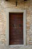 Tuscany wood door Stock Photo