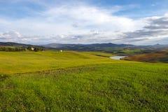 Tuscany wzgórza Obrazy Royalty Free