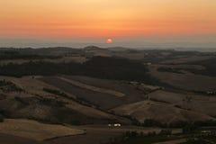 Tuscany zmierzch Obrazy Royalty Free