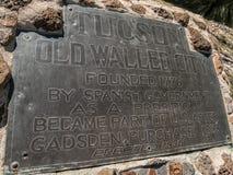 Tuscon, alte ummauerte Stadt stockfoto