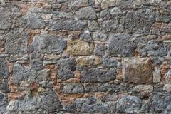 Tusen år gammal stenvägg Arkivfoto