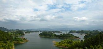 Tusen ö sjö royaltyfri foto