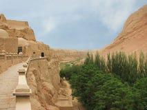 Tusen buddha eller Bezeklik grottor Royaltyfria Foton