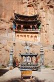 Tusen-Buddha grotta royaltyfria foton