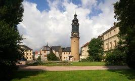 Tusen dollar-hertiglig slott av Weimar Arkivbilder