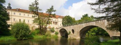 Tusen dollar-hertiglig slott av Weimar Arkivbild