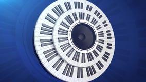 tusen dollar keys pianot Vektor Illustrationer