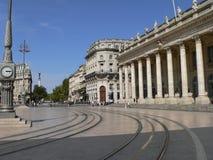 Tusen dollar Teater de Bordeaux (Frankrike) Royaltyfri Foto
