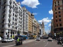 Tusen dollar via, Madrid Arkivfoton