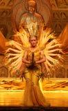 Tusen handdans i Kina royaltyfri foto
