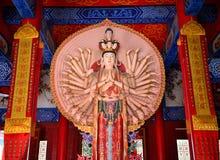 Tusen-handen Kwan-yin Arkivfoto