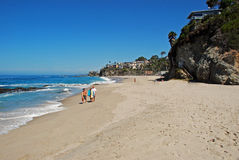 Tusen momentstrand, Laguna Beach, Kalifornien Arkivfoton