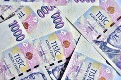 Tusen tjeckiska kronor Arkivbilder
