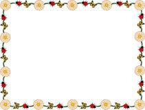 Tusenskönanyckelpiga och fjärilsgräns Royaltyfri Foto