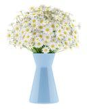 Tusenskönor i den blåa vasen som isoleras på vit vektor illustrationer