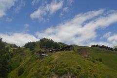 Tusheti-Dorf Alisgori Stockbild