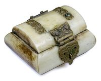 Tusk Box. A olden box from tusk royalty free stock images