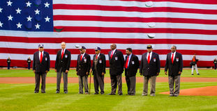 Tuskegee Airman at Fenway Park Royalty Free Stock Photography