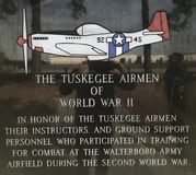Tuskegee lotnicy druga wojna światowa zdjęcie royalty free