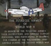 Tuskegee piloter av världskrig II royaltyfri foto