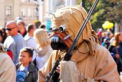 Tusken najeźdźca przy Star Wars (piasków ludzie) Obrazy Royalty Free