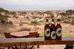 Tusker Beer Bottles Royalty Free Stock Photography