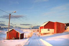 Tussan  in Lofoten's house and farm Stock Photography