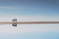Tussen de hemel en het overzees Stock Afbeeldingen