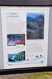 Tussock Tundra information sign Stock Photos