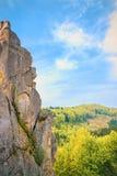 Tustan - старый город крепости утеса, Украина Стоковая Фотография RF