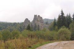 Tustan een monument van geschiedenis en architectuur Royalty-vrije Stock Foto's