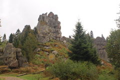 Tustan een monument van geschiedenis en architectuur Stock Fotografie