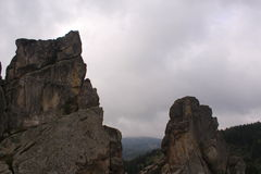 Tustan ein Monument der Geschichte und der Architektur Lizenzfreies Stockbild