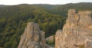 Tustan fortecy - archeologiczny i naturalny zabytek krajowy znaczenie, popularny turystyczny punkt zwrotny Urych, Karpacki Mounta zbiory