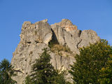 Tustan Rocks. Near Urych. Carpathian Mountains. Ukraine Royalty Free Stock Photo