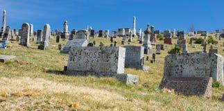 Tuszuje Ogrodowego Środkowego Luterańskiego kościół cmentarz Obraz Stock