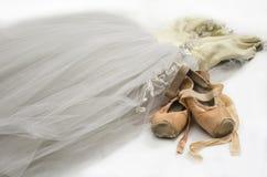 Tutú con los zapatos de ballet Fotografía de archivo libre de regalías