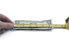 Tut das Dollarmaß oben Lizenzfreie Stockfotos