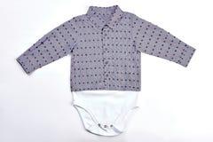 Tuta lunga della camicia della manica del neonato Fotografia Stock Libera da Diritti