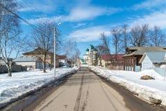 Tutaev, Ρωσία - 28 Μαρτίου 2016 Αρχιτεκτονική και γενική άποψη της πόλης Στοκ Εικόνα