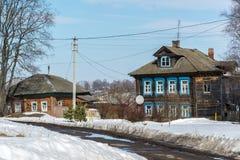 Tutaev, Россия - 28-ое марта 2016 Архитектура и общий вид городка стоковое фото