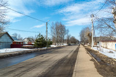 Tutaev, Россия - 28-ое марта 2016 Архитектура и общий вид городка стоковое изображение rf