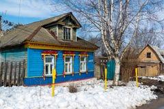 Tutaev Rosja, Marzec, - 28, 2016 Architektura i ogólny widok miasteczko Obrazy Royalty Free