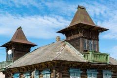 Tutaev Rosja, Marzec, - 28, 2016 Architektura i ogólny widok miasteczko Zdjęcia Royalty Free