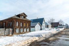 Tutaev Rosja, Marzec, - 28, 2016 Architektura i ogólny widok miasteczko Zdjęcia Stock