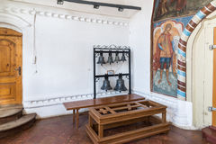 Tutaev, Russia. Church bells in the hall of the Resurrection Cathedral Royalty Free Stock Photos
