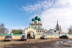 Tutaev, Russia - March 28, 2016.  Resurrection Cathedral in Tutaev, Russia. Golden Ring Travel Stock Images