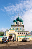 Tutaev, Russia - March 28, 2016.  Resurrection Cathedral in Tutaev, Russia. Golden Ring Travel Royalty Free Stock Images